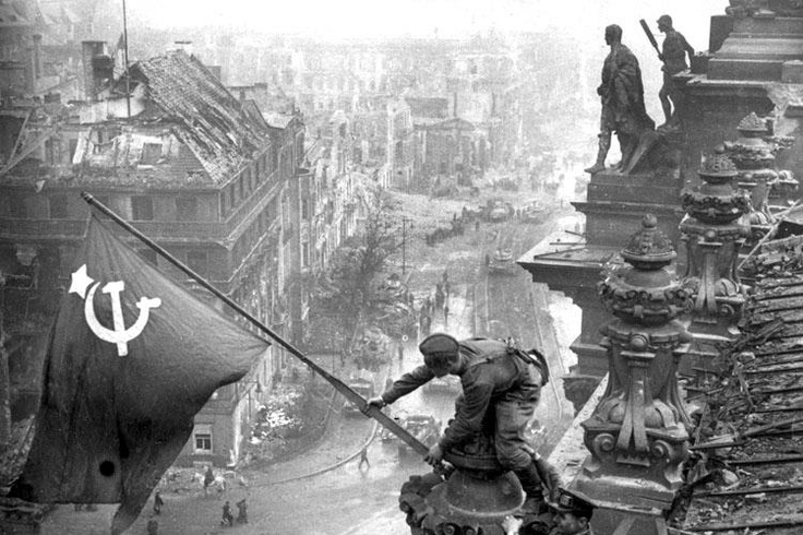 Yevgeny Khaldei (1917 – 1997) was a Red Army photographer, best known for his WW2 photo of a Soviet soldier raising a flag over the Reichstag, in Berlin. He was one of the most famous photojournalists of the WW2 period. He walked carrying his camera from Moscow to Berlin. https://sphotos-a.xx.fbcdn.net/hphotos-ash3/164460_434244166651556_697970459_n.jpg