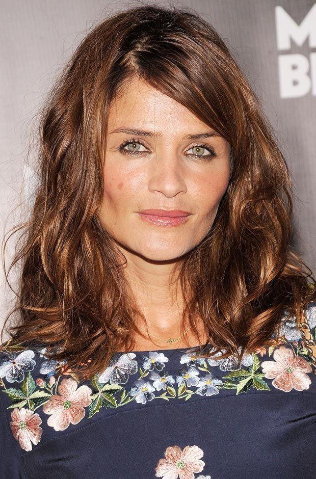 This color is sitting on my head as I type Hope it looks close to this!! Helena Christensen---Golden Brown Hair!!!