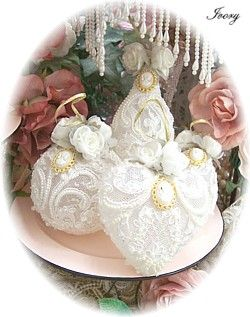 These Victorian Ornaments are great for year round display, but make GORGEOUS Christmas ornaments! Perfect for your Victorian or Cottage Chic tree
