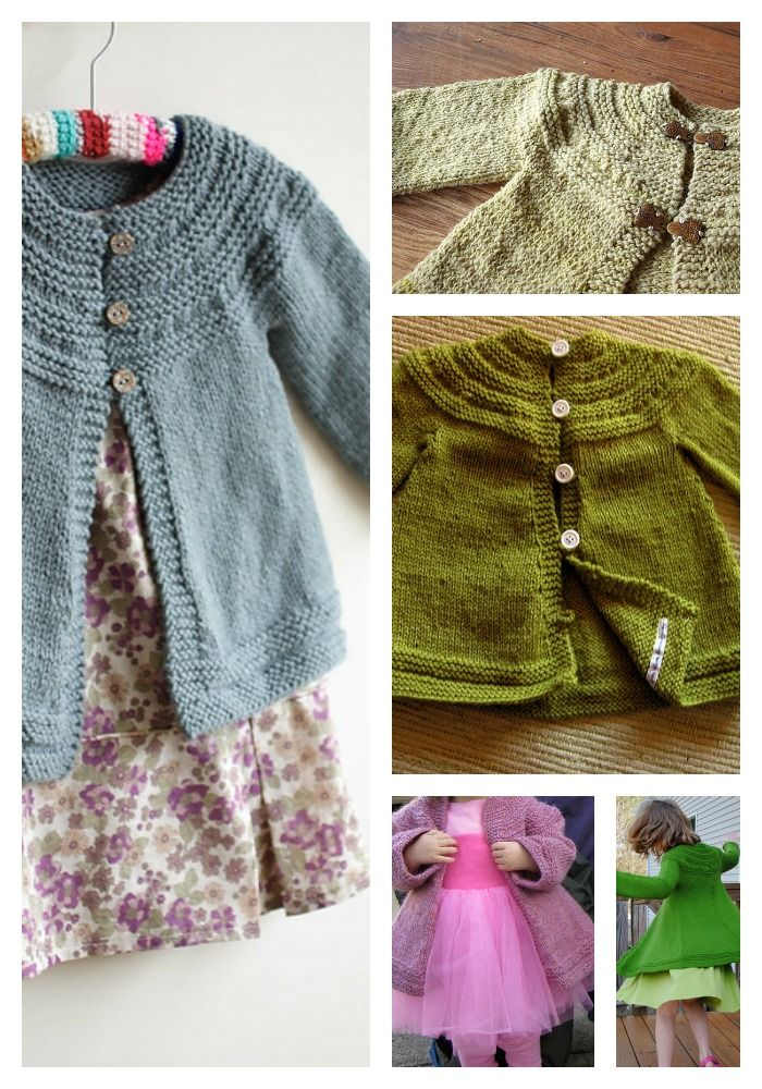 7 Knitting Patterns for Toddler Sweaters ~ Free