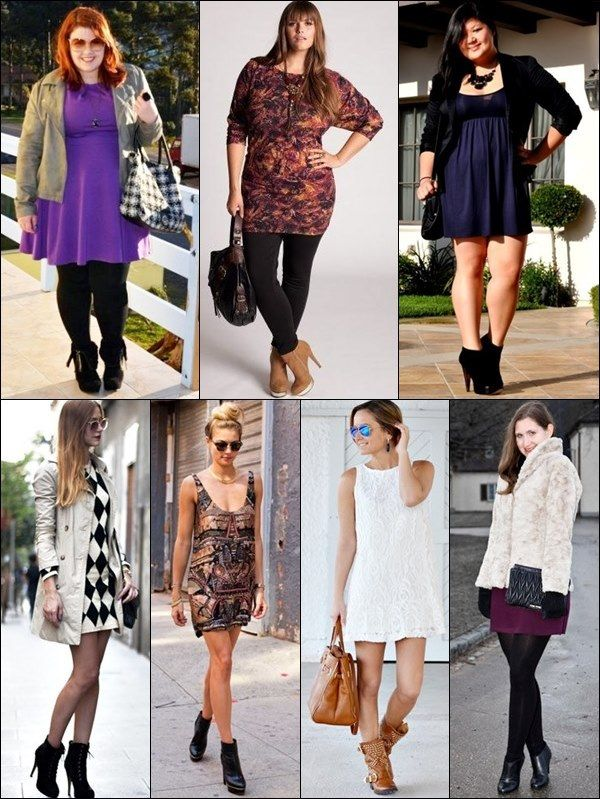 ankle boots with dress i like the bottom right look with
