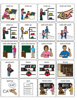 First/Then Board and Visuals from Autism Educators on TpT - Thank you, Autism Educators! SO Helpful!
