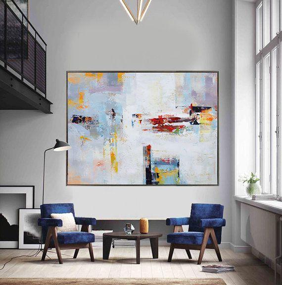 Extra grande pintura contemporánea arte enorme por CelineZiangArt