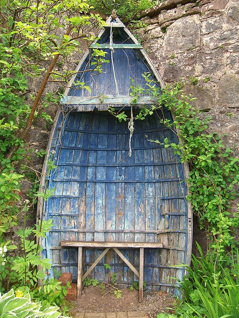 Darling, I found this picture of the old Boat Seat, at Applecross House, Scotland. We should visit soon.