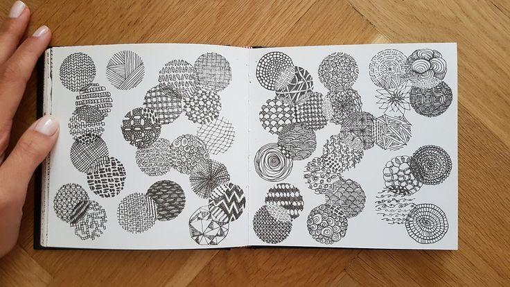 #pattern #sketch #sketchbook #ink #circle