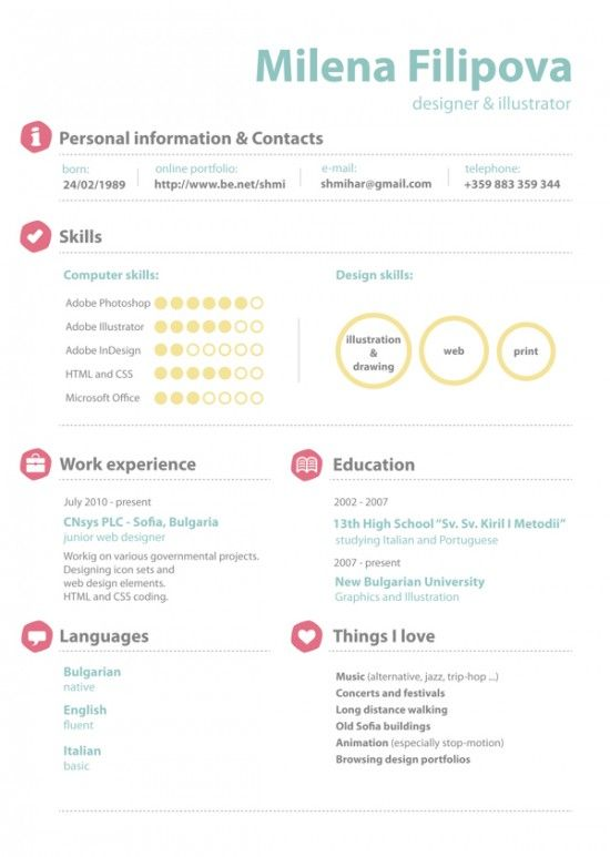 11 best images about resume creative on cool