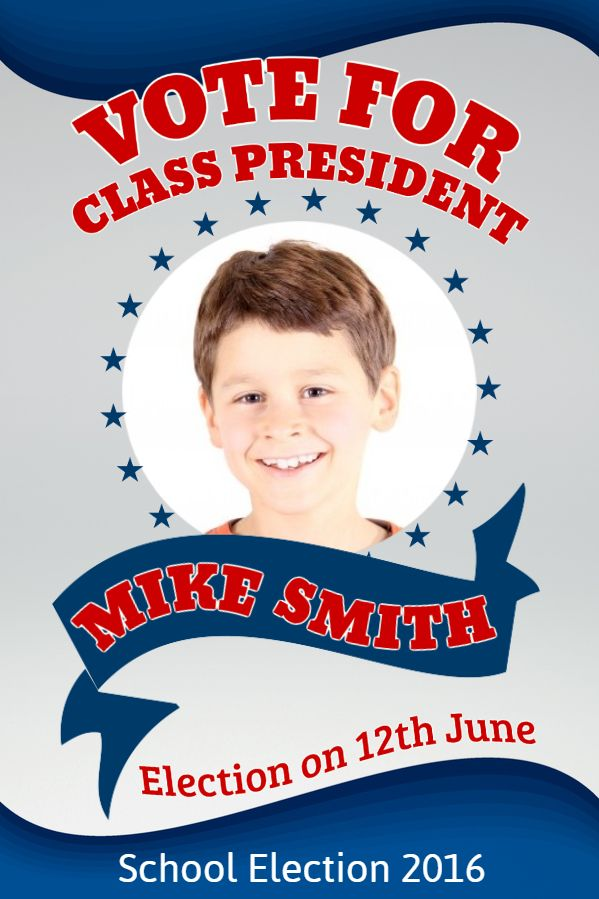 School Student Council Election Campaign Flyer Template Election