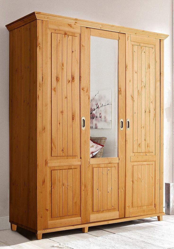 Stunning Artikeldetails Kleiderschrank im Landhaus Stil Mit Schiebt ren Kleiderstange u