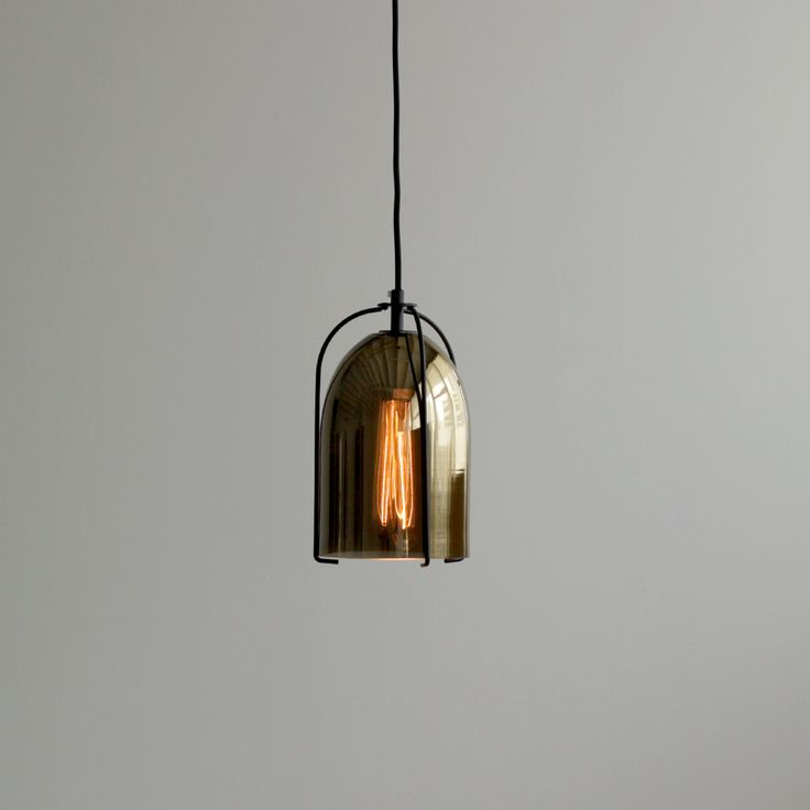 Gold Glass Bell Pendant Light