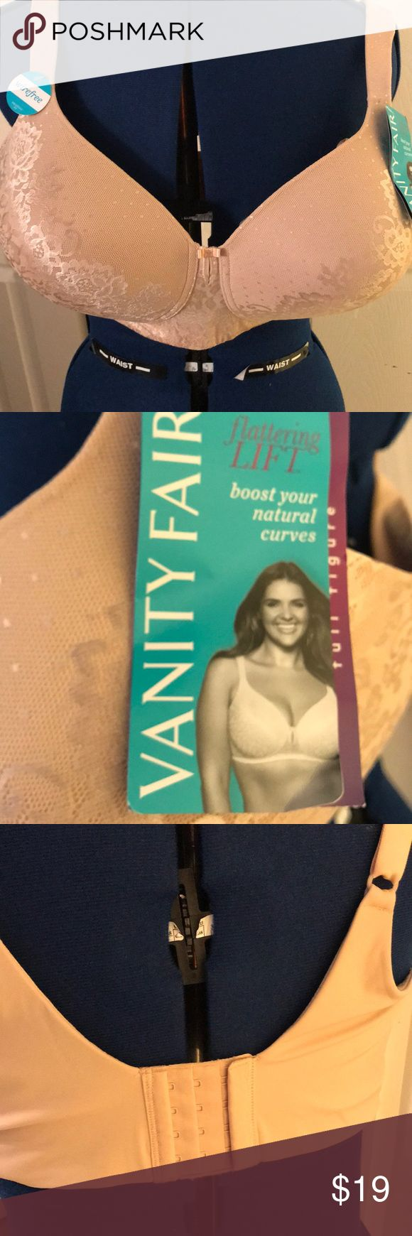 Vanity Fair 40dd beige bra vanity fair 71262 49DD Bra new with tags lace 85 nylon 15 spandex back78 percent nylon 23 percent spandex exclusive of decoration flattering lift boost your natural curves New  with tags. Vanity Fair Intimates & Sleepwear Bras
