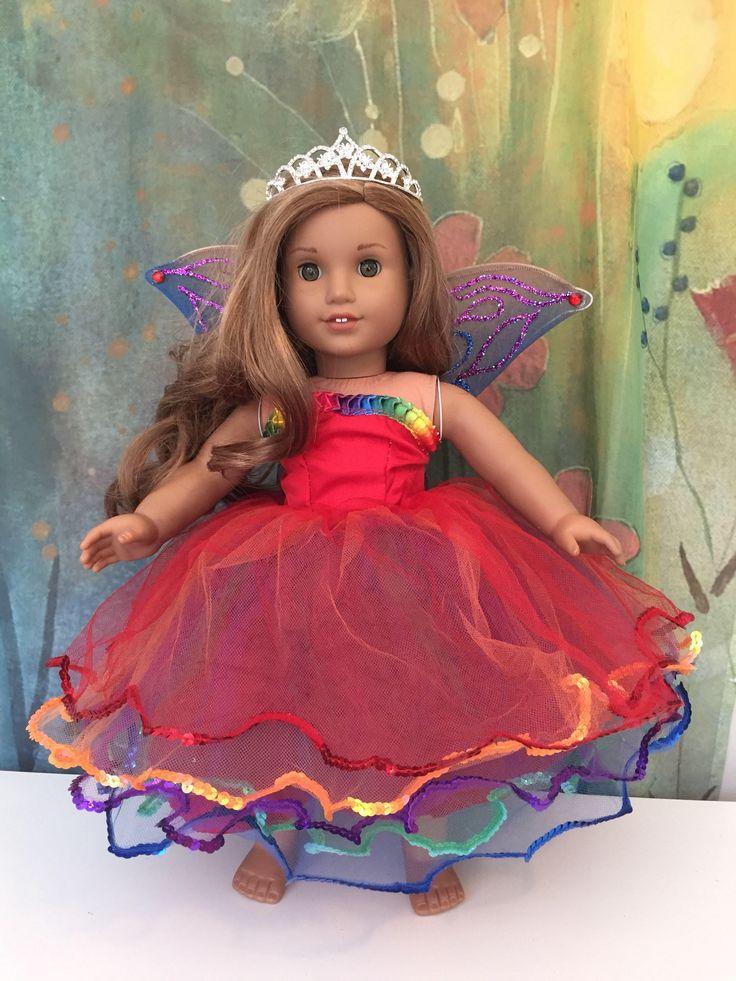 A personal favorite from my Etsy shop https://www.etsy.com/listing/472222782/american-girl-custom-ooak-rainbow-fairy