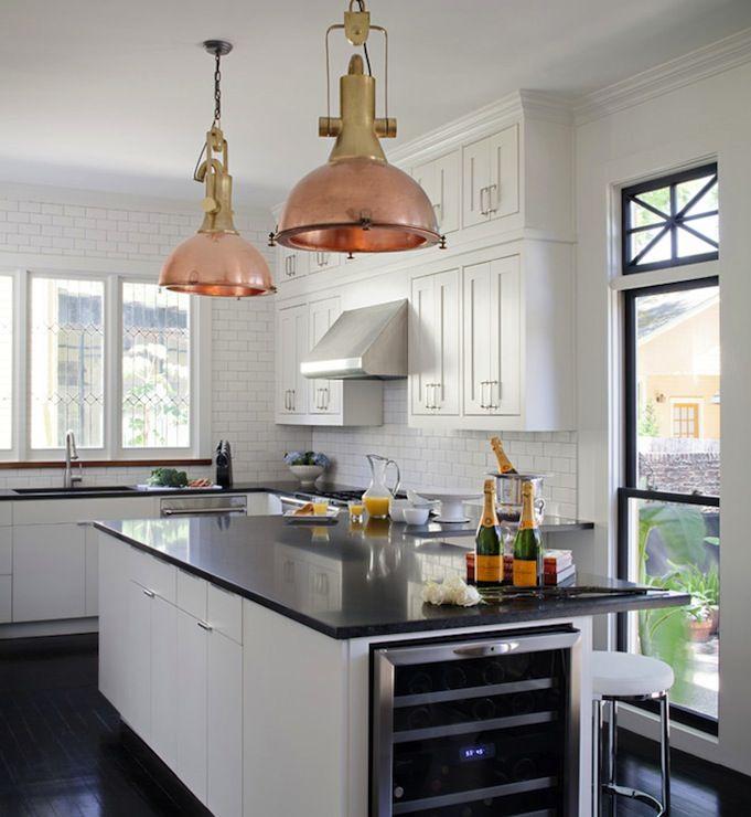Ty Larkins Interiors   Kitchens   Copper, Industrial, Pendants, Wine  Cooler, Kitchen