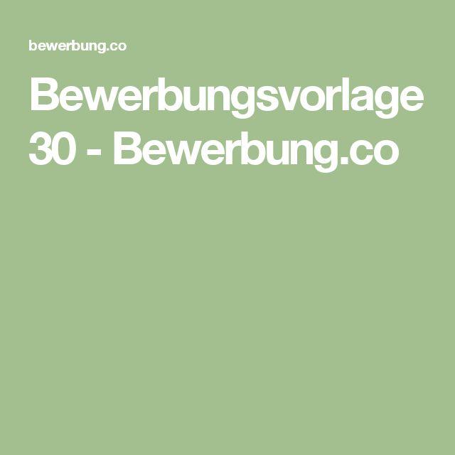 Bewerbungsvorlage 30 - Bewerbung.co