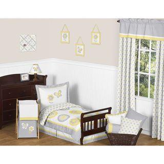 Sweet Jojo Designs Mod Garden 5-piece Toddler Comforter Set | Overstock.com Shopping - The Best Prices on Sweet Jojo Designs Kids' Comforter Sets