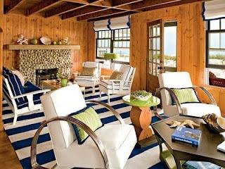 beach decor cabin family room