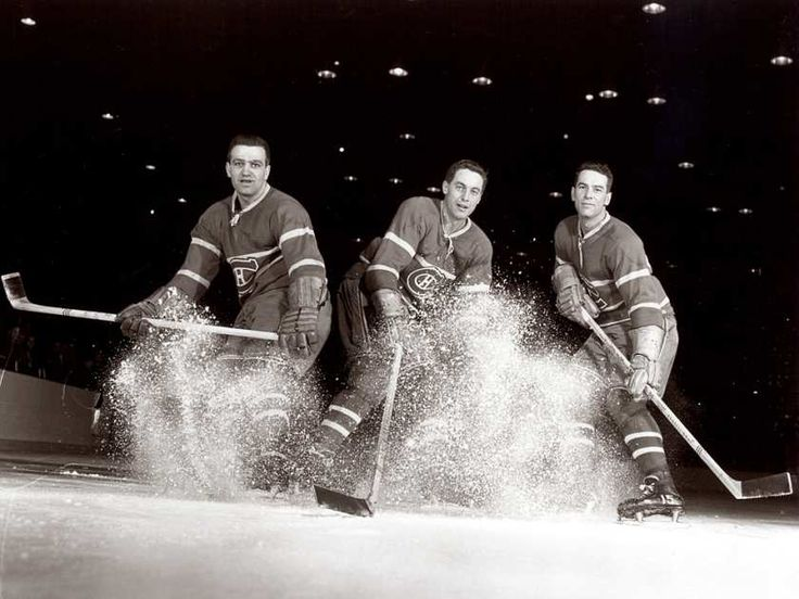 The Canadiens' 1950s line of Bernie Geoffrion (left), Jean Béliveau (centre) and Bert Olmstead - DAVID BIER / CLUB DE HOCKEY CANADIEN/MONTREAL GAZETTE FILES