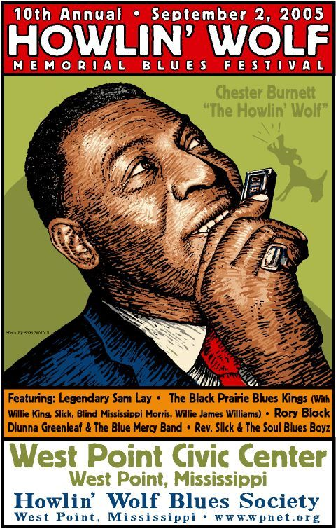 Howlin' Wolf :looks like Crumb's work  but I don't think it really is.