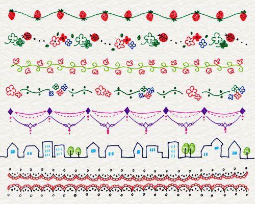 Of decoration line illustrations 3