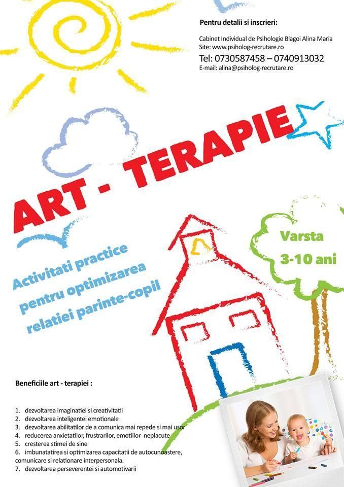 Cabinet psihologie Bucuresti: art-terapie copii si parinti