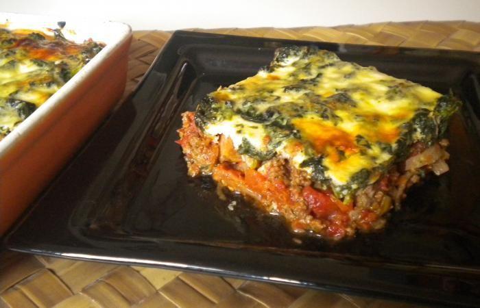 Régime Dukan (recette minceur) : Gratin de boeuf/tomates/épinards #dukan http://www.dukanaute.com/recette-gratin-de-boeuf-tomates-epinards-7523.html