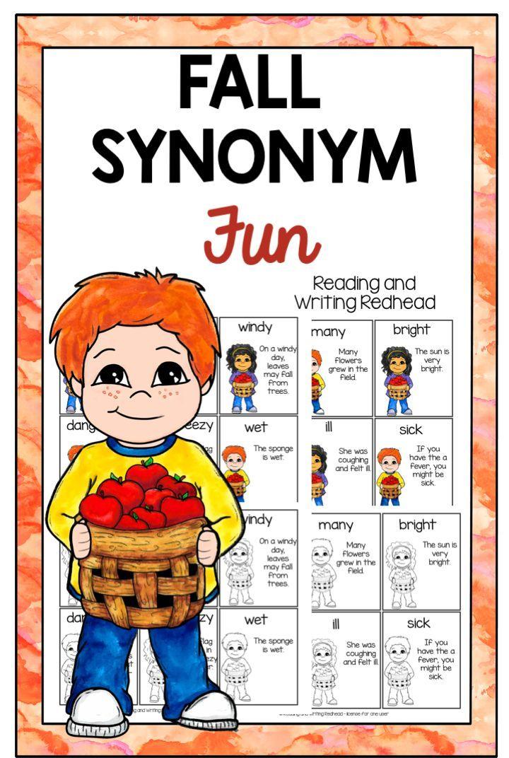 Fall Synonym Fun | FirstGradeFaculty com | First grade