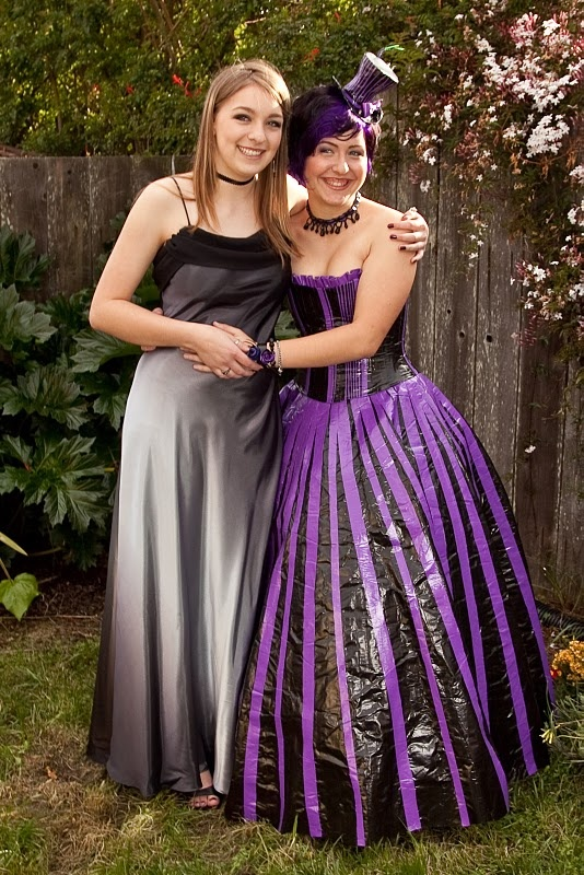 Just for Emma= Duct Tape Prom Dress! Complete with top hat ;)