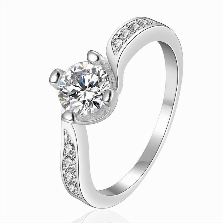 Cristal Silver Rings for Women Engagement Ring Wedding Bague Mariage Femme Alliance Anillos Mujer Alianca Aneis Ringen Eheringe