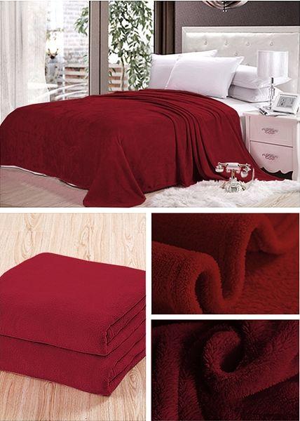 Dekorační deka a přehoz ve vínové barvě