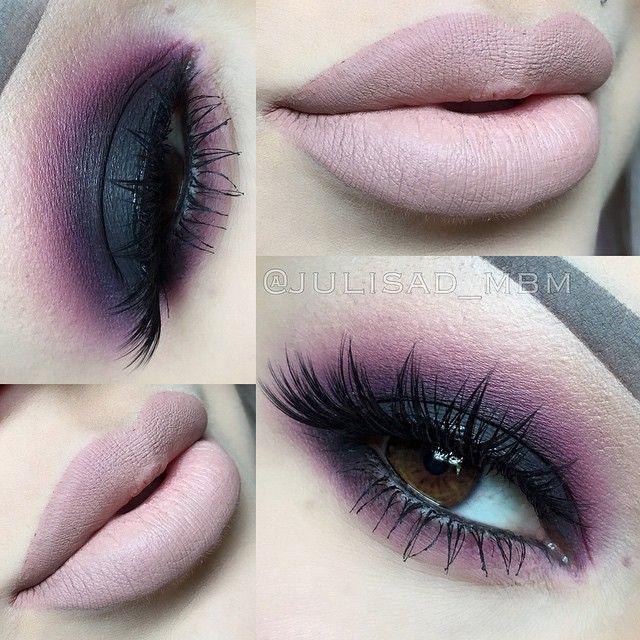 Black and purple smokey eye