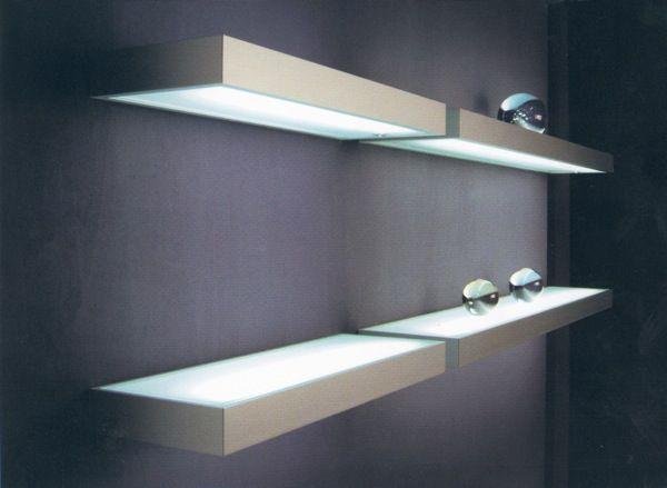 Richelieu 419705170 Profilo Fluorescent Shelf Light Thebuilderssupply Com Glass Shelves Shelf Lighting Floating Glass Shelves
