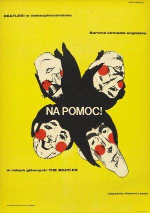 Help! movie poster designed by Eryk Lipinski