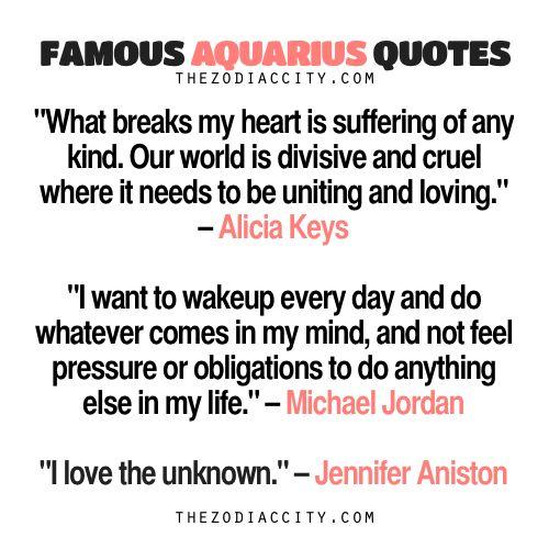 Famous Aquarius Quotes: Alicia Keys, Michael Jordan, Jennifer Aniston | TheZodiacCity