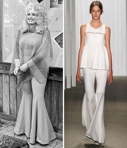 Then and Now: These Sexy '70s Trends Are Making a Comeback - Sweeping Bell Bottoms  - from InStyle.com