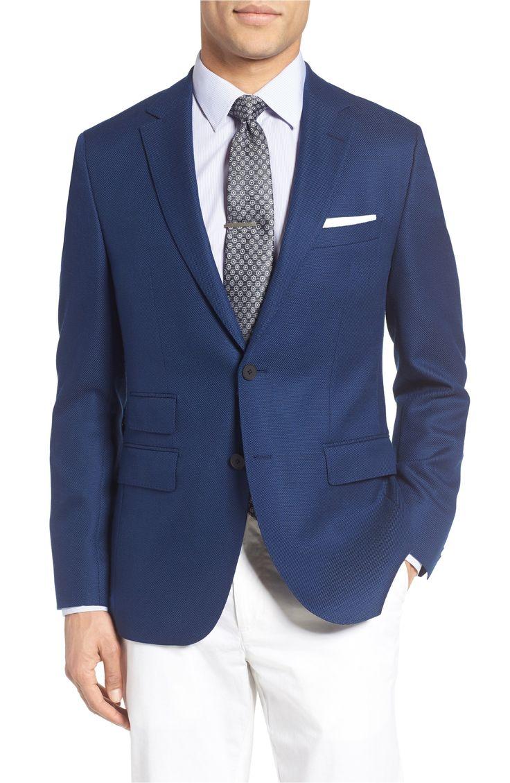 Main Image - BOSS Jet Trim Fit Stretch Wool Travel Blazer