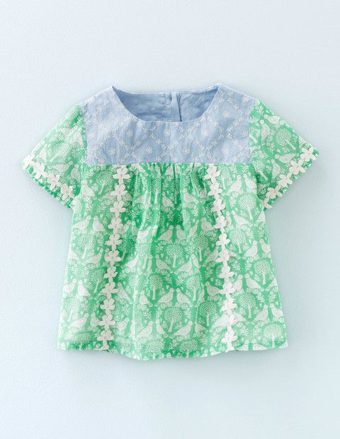 Broderie Detail Top 32684 Tops at Boden