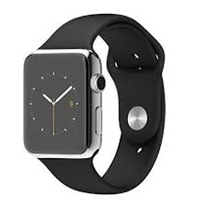 nice Apple Watch 38mm Stainless Steel with Black Sport Band (Band - OEM) - Good Condi   Check more at http://harmonisproduction.com/apple-watch-38mm-stainless-steel-with-black-sport-band-band-oem-good-condi/