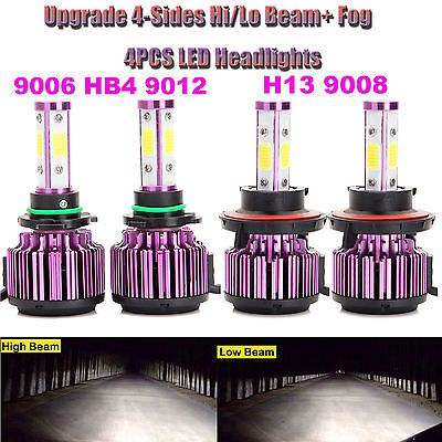 00W 40000LM Combo H13 Hi|Lo Beam-9006 Fog Driving Lamp Headlight Bulb Kit 6000K2  Manufacturer Part Number - Does Not Apply, Interchange Part Number - For Car,Truck,Motorcycle Bike,Boats,other vehicle,, Other Part Number - 6000K(Xenon HID Pure White) Head Light Lamp Bulbs, Placement on Vehicle - FrontLeftRight, Warranty - 5 Year, Fitment Type - Direct Replacement, Bulb Color - Pure White, Type - Daytime Running Light, Ballast Included - Yes, Number of Bulbs - 4, Bulb Size - 9006-H13,