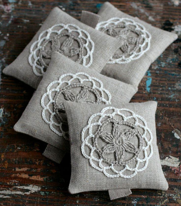 Lavendel Beutelhäkeln Motiv4er set von namolio auf Etsy, £18,00