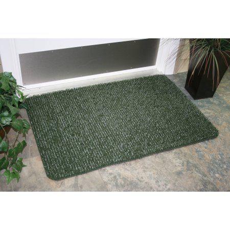 AstroTurf Scraper Door Mat, Flair Large, 20 inch 36 inch, Evergreen, Green