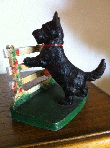 Antique Cast Iron Hubley Scottish Terrier Dog Doorstop | eBay