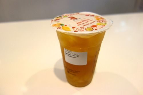 Lychee Oolong Tea with Aloe Vera from Gong Cha