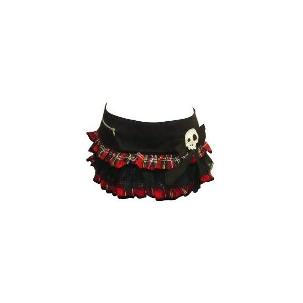 Hell Bunny Bad Girl Tartan Micro Mini Skirt Red - Sizes 6 8 10 12 14:... ($23) ❤ liked on Polyvore