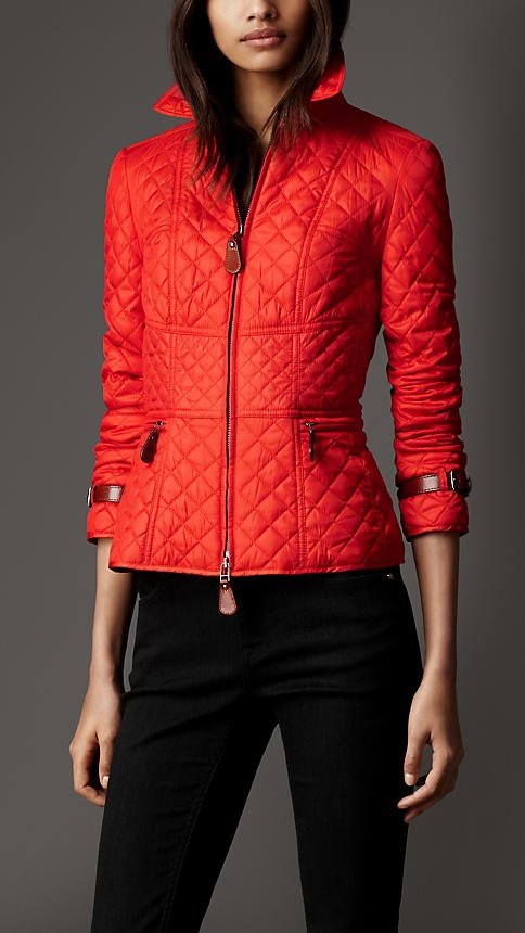Corset Detail Quilted Jacket | Burberry