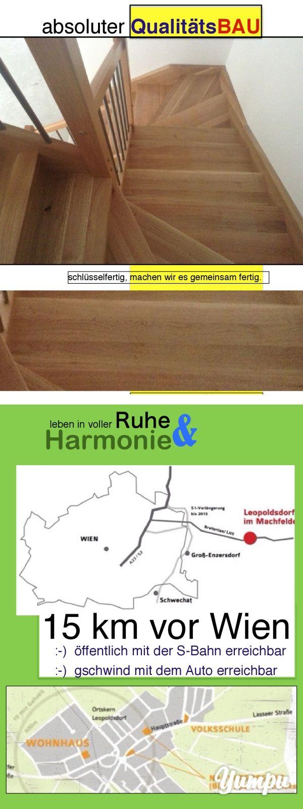 absoluter QualitätsBAU - Magazine with 21 pages: Neubauhaus - einzugsbereit - schlüsselfertig - EUR 269.000 oder belagsfertig 235.000 Euro.  Architektengeplantes Doppelhaus in rundum schöner angenehmer Atmosphäre knappe 15 km von Wien entfernt!  Die Ortschaft heißt Leopoldsdorf im Marchfelde und verspricht angenehmes Wohnen!   Die Wohnnutzfläche (ohne Stiege) beträgt 120 m² !   In der ersten Etage (Erdgeschoss) - gibt es ein offenes, lichtdurchflutetes, großzügiges 38 m2 Wohnzimmer…