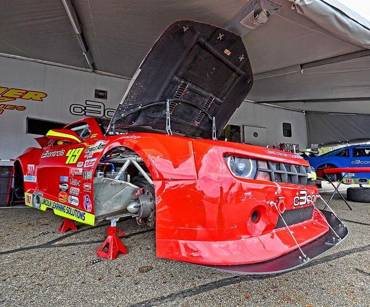 TA2 Camaro repairs in the paddock at Mid-Ohio.  http://ift.tt/2yL9ERz  #chevy #camaro #racing #racecarsofinstagram #carsofinstagram #camarosofinstagram #transamracing #transam #midohiosportscarcourse