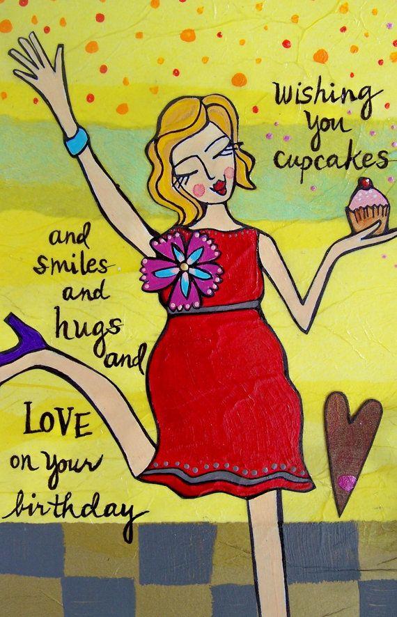 Tarjeta de felicitación Cumpleaños Cupcakes por LoriPortka en Etsy