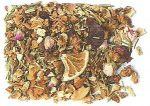 Agrumi di Sicilia Fette di carota, pezzi di arancia, frutti di rosa canina, cannella corteccia, chicchi d'uva, pezzi di noce di cocco, fiori di karkadè.   Arancia Cannella Fette di carota, pezzi d'arancia, chicchi d'uva, cannella, frutti di rosa