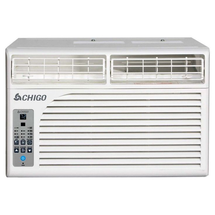 Chigo - 10000 Btu Window Air Conditioner Electronic Controls, White