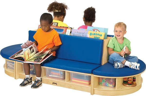 Children's Waiting Room Furniture. Antimicrobial product protection and bleach cleanable. Made of soft vinyl and plywood..