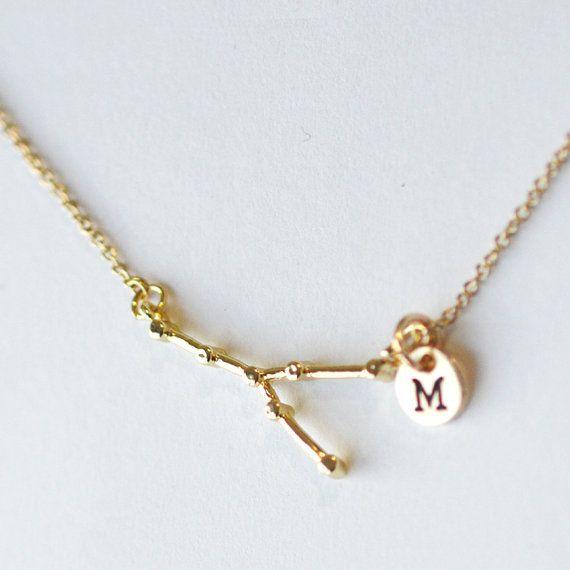 Collier de constellation du taureau mariage par YesOrNoDesign